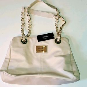 New  Nicole by Nicole Miller Lg white tote bag